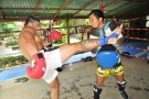 MMA star Phil Baroni trains with Tiger Muay Thai Trainer Samart
