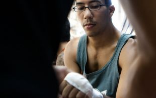 Eric Braech fights at Bangla boxing stadium in Phuket, Thailand, Wednesday, Aug. 21, 2013. (Photo by Mitch Viquez ©2013)