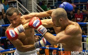 Çağan Atakan fights at Bangla boxing stadium in Phuket, Thailand, Friday, Aug. 2, 2013. (Photo by Mitch Viquez ©2013)