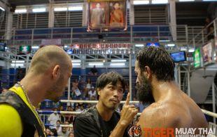 Bektas Emirhanoglu fights at Bangla boxing stadium in Phuket, Thailand, Sunday, Aug. 4, 2013. (Photo by Mitch Viquez ©2013)
