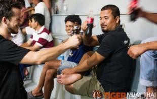 Seb Bates fights at Patong Sainamyen Road stadium in Phuket, Thailand, Monday, Aug. 12, 2013. (Photo by Mitch Viquez ©2013)