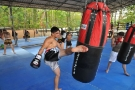 Tiger Muay Thai and MMA guest Herrad in training photo shoot, Phuket, Thailand