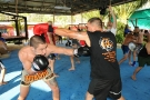 Professionl Boxing Coach Paule Marchant gives seminar at Tiger Muay Thai