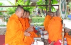 Buddhist Monks Bless Tiger Muay Thai on Oct 18, 2008
