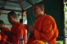 Buddhist Monks blessing at Tiger Muay Thai, January 2011