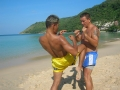Muay Thai Beach Training October 2006 @ Phuket Thailand