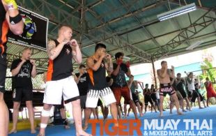 MMA Boxing Coach Steve Petramale gives boxing seminar @TigerMuayThai