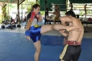 One-on-one private Tiger Muay Thai training, Phuket, Thailand