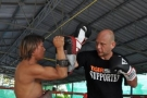 Training private Tiger Muay Thai lessons in Thailand