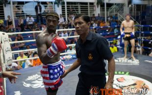 Brad Desir fights at Bangla Stadium in Phuket, Thailand, Friday, May. 10, 2013. (Photo by Mitch Viquez ©2013)