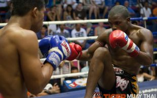 Ncedo Gomboa fights at Bangla Stadium in Phuket, Thailand, Friday, May. 10, 2013. (Photo by Mitch Viquez ©2013)