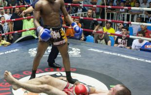 Ncedo Gomboa fights at Bangla Stadium in Phuket, Thailand, Friday, May. 17, 2013. (Photo by Mitch Viquez ©2013)