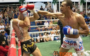 Çağan Atakan fights at Bangla boxing stadium in Phuket, Thailand, Friday, Aug. 2, 2013. (Photo by Mitch Viquez ©2013)