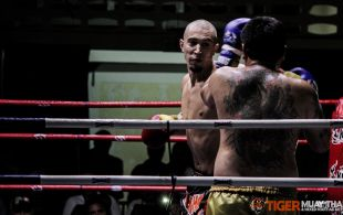 Tiger Muay Thai & MMA Training Camp Guest Fights February 17th, 2014 including Matt Tepaa and David Leduc at Patong Stadium in Phuket, Thailand. ©SamKearney
