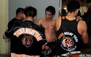 Tiger Muay Thai & MMA Training Camp Guest Fights February 3rd, 2014 including Matt Te Pa, Ncedo Dombor and Tiger Muay Thai Trainer Chainarit at Patong Stadium in Phuket, Thailand.