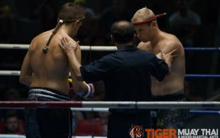 Jaygan Chipol fights at Patong Sainamyen Road stadium in Phuket, Thailand, Monday, Jul. 22, 2013. (Photo by Mitch Viquez ©2013)