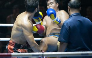 Bektas Emirhonoglv fights at Bangla stadium in Phuket, Thailand, Friday, Jul. 5, 2013. (Photo by Mitch Viquez ©2013)