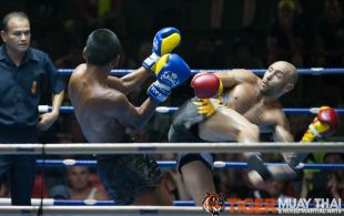 Tiger Muay Thai guest fights at Bangla stadium in Phuket, Thailand, Friday, Jul. 5, 2013. (Photo by Mitch Viquez ©2013)
