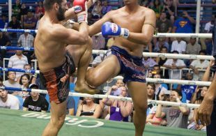 Majid Fallam fights at Bangla stadium in Phuket, Thailand, Wednesday, Jun. 19, 2013. (Photo by Mitch Viquez ©2013)
