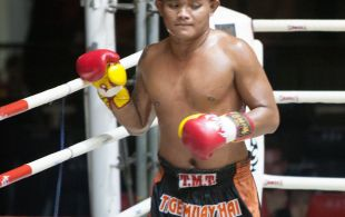 Tiger Muay Thai fighter Ngoo at Patong Sainamyen Road stadium in Phuket, Thailand, Thursday, Jun. 20, 2013. (Photo by Mitch Viquez ©2013)