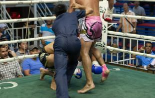 Abdel Krin fights at Bangla stadium in Phuket, Thailand, Friday, Jun. 7, 2013. (Photo by Mitch Viquez ©2013)