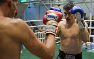 Gareth Friedman fights at Bangla Stadium in Phuket, Thailand, Wednesday, May. 22, 2013. (Photo by Mitch Viquez ©2013)