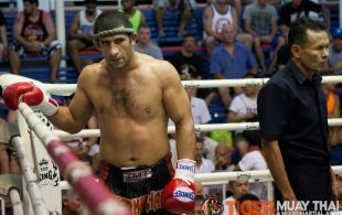 Majid Fallam fights at Bangla Stadium in Phuket, Thailand, Wednesday, May. 8, 2013. (Photo by Mitch Viquez ©2013)