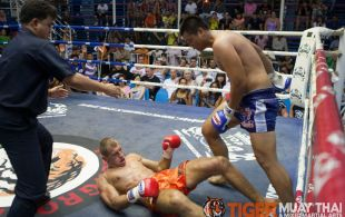 Thorsten Sickesz Koper fights at Bangla Stadium in Phuket, Thailand, Wednesday, May. 8, 2013. (Photo by Mitch Viquez ©2013)