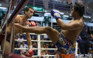 Serrano Jonathan fights at Bangla boxing stadium in Phuket, Thailand, Friday, Sep. 6, 2013. (Photo by Mitch Viquez ©2013)