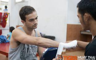Serrano Jonathan fights at Bangla boxing stadium in Phuket, Thailand, Friday, Sep. 6, 2013. (Photo by Mitch Viquez ©2013)