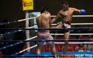 Tiger Muay Thai fighter Ploydang at Patong Sainamyen Road stadium in Phuket, Thailand, Monday, Sep. 9 2013. (Photo by Mitch Viquez ©2013)
